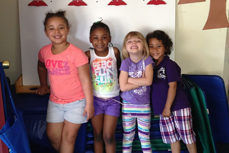 smiling young girls at a Preschool & Daycare Serving Milton, DE, Frederica, DE, Harrington, DE, Dover, DE, Baltimore, MD