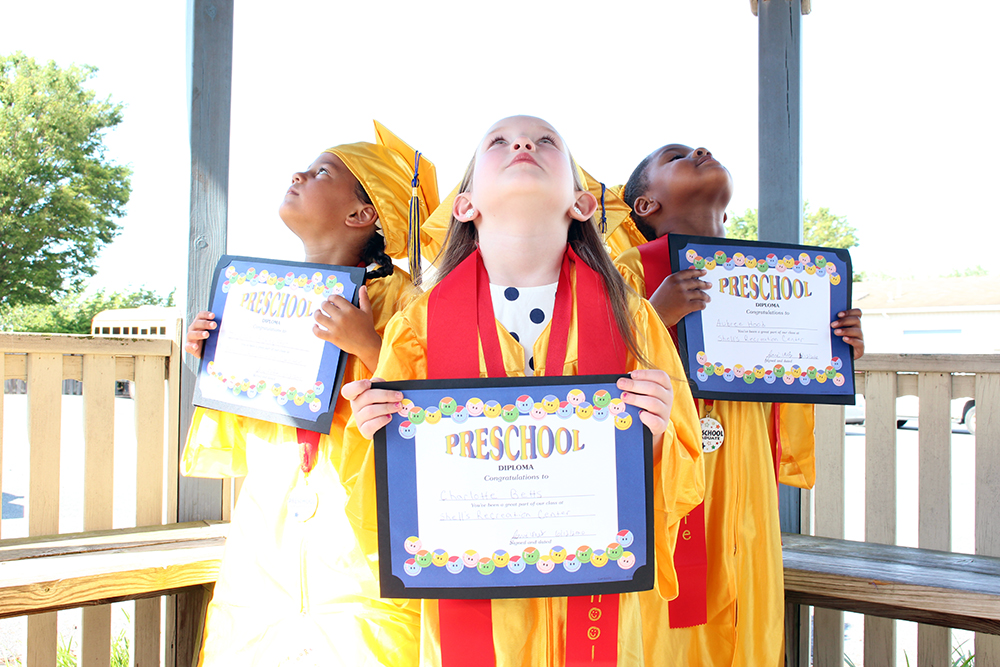 Graduating Preschool Shells Child Care Education Program